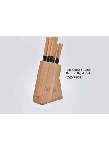 Taç tac-sansa Taç Sansa 5 Parça Bambu Bıçak Set Tac-7508 Renkli